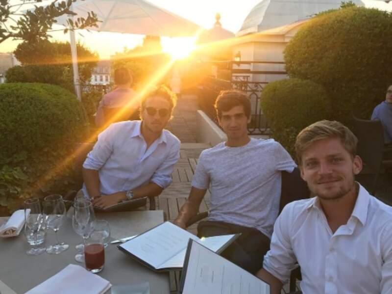 Dîner entre copains pour Lucas Pouille, Pierre-Hugues Herbert et David Goffin