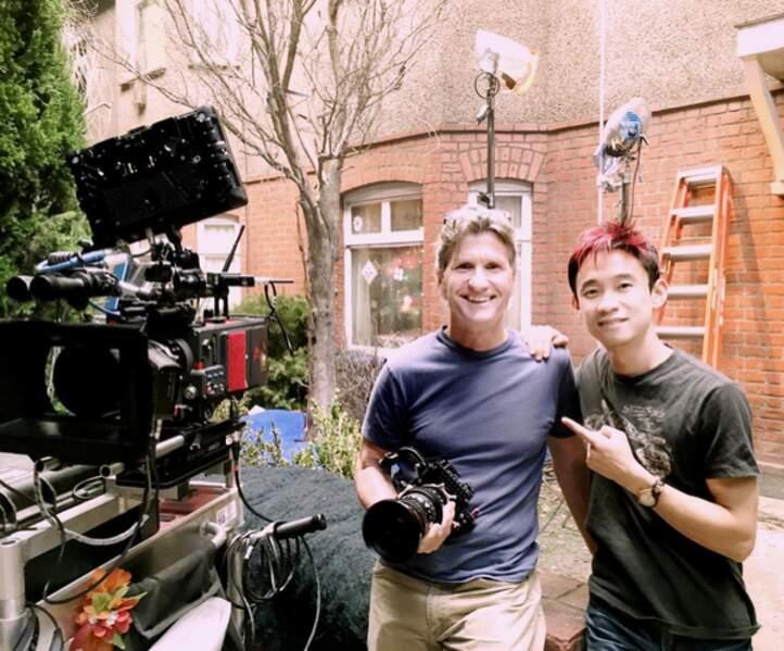Le réalisateur James Wan et le directeur de la photographie du film Don Burgess