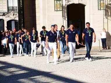 Selfies avec François Hollande, visite des jardins... Les athlètes de Rio à l'Élysée
