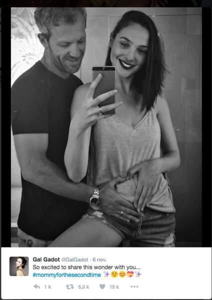 La Wonderman Gal Gadot a annoncé sa deuxième grossesse sur Twitter. MàJ : il est né en mars