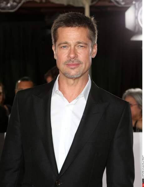 Mais Brad Pitt pose aussi en vrai beau gosse !