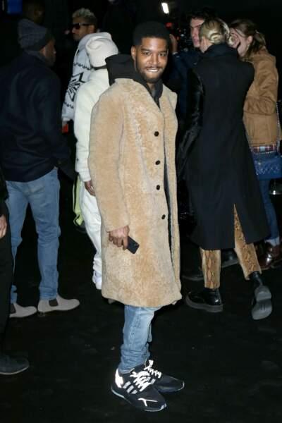 Kid Cudi arrivant au défilé Dior Homme