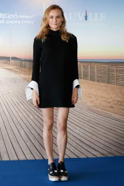Diane Kruger, très chic à Deauville