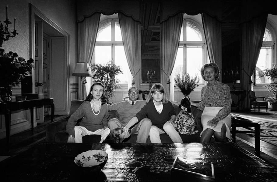 Laurence Chirac (à gauche), fille de Jacques Chirac, est morte le 14 avril 2016. Elle avait 58 ans