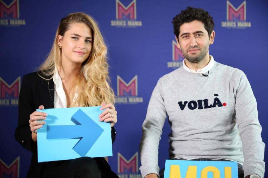 Entre deux tapis rouges, Solène Herbert et Mayel Elhajaoui se sont essayés au Guess Who de Télé-Loisirs