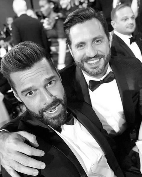 1, 2, 3... Et on sourit à l'objectif Ricky Martin et Edgar Ramirez !