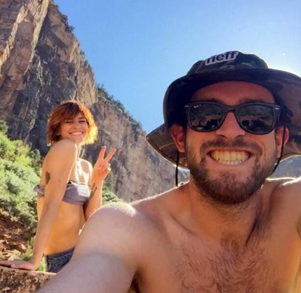 Vacances en amoureux dans le Grand Canyon pour la pétillante Fauve Hautot.