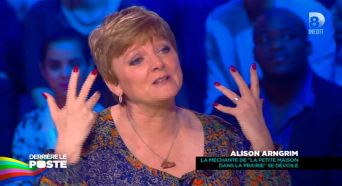 Même chose pour Alison Arngrim, la Nellie Oleson de La petite maison dans la prairie