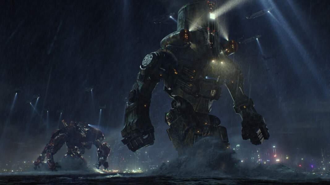 """Dans Pacific Rim, des robots """"maous costaud"""" sont créés pour contrer de vilaines bêbêtes"""