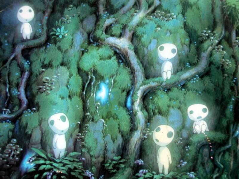 Les Kodama (Princesse Mononoké) : De petits esprits de la fôret qui ont une drôle de façon de bouger la tête
