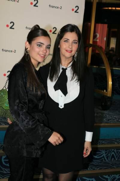 Cristiana Reali et sa fille avec Francis Huster Toscane