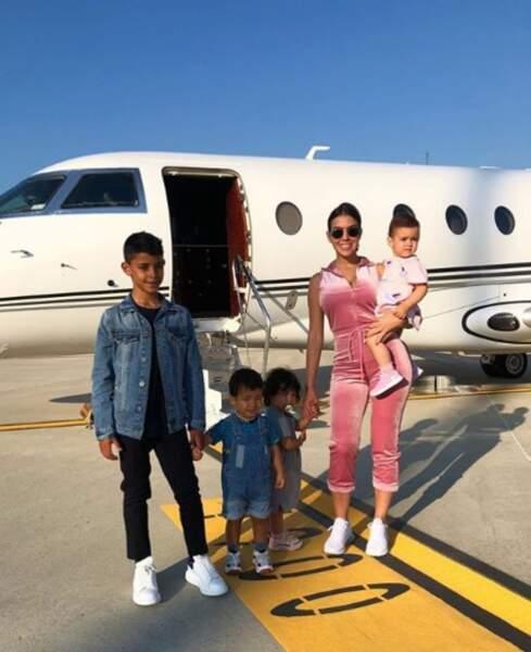 Georgina Rodriguez et les quatre enfants de Cristiano Ronaldo