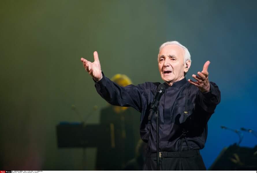 En concert à Erevan, en Arménie, pour ses 90 ans en mai 2014