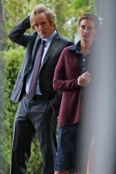 Julia Roberts et Owen Wilson tournent actuellement le film Wonder à Vancouver