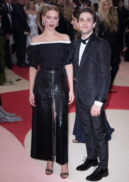 Lea Seydoux and Xavier Dolan : sobres, en tout cas en début de soirée!