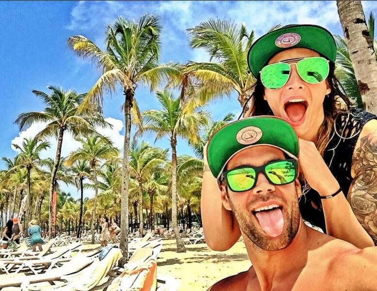 Emilie Nef Naf et son nouveau chéri, Bruno Cerella, sont en vacances au Mexique