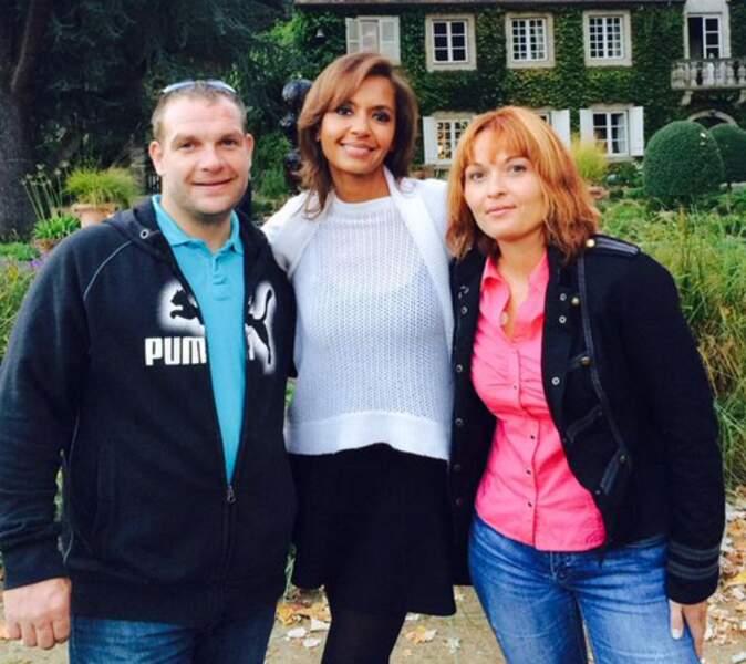 Ah, et la voici avec Fabien et Corinne de la saison 4... Oui, elle a beaucoup changé avec ses cheveux roux !