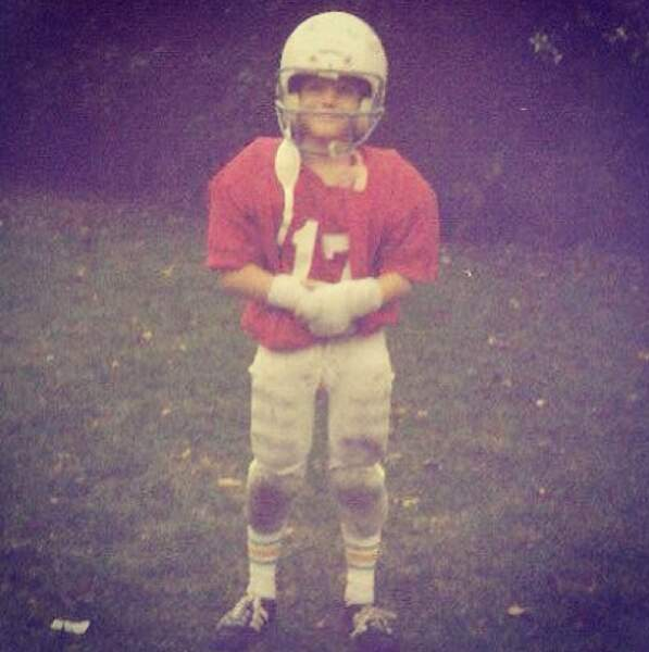 Du football américain, le jeune garçon a gardé une endurance à toute preuve