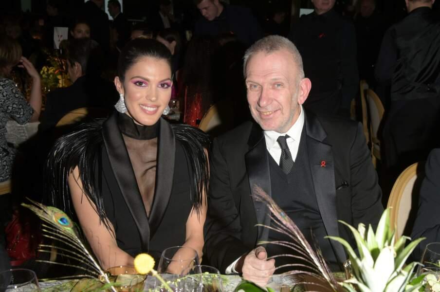 Jean-Paul Gaultier, président de la soirée, a pu compter sur la présence de la belle Iris Mittenaere
