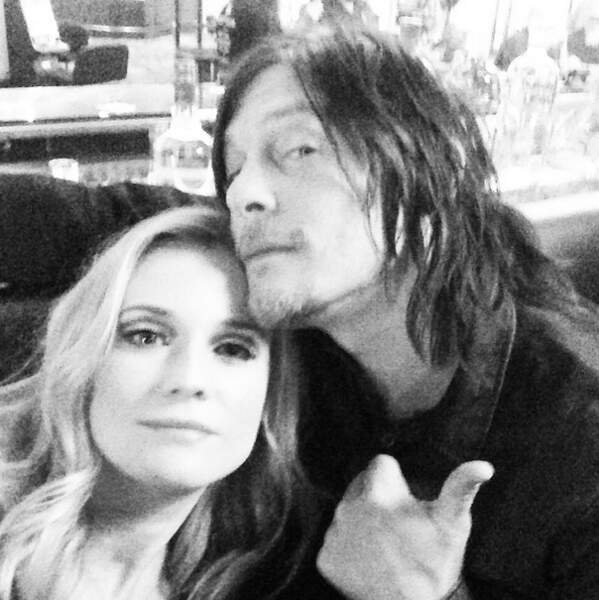 "Chanceuse, un selfie avec Norman Reedus alias Daryl de ""The Walking Dead"""