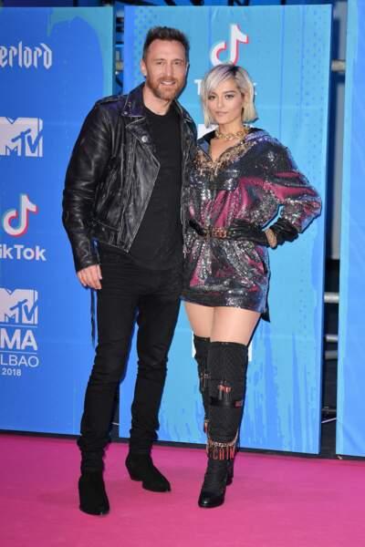 Bebe Rexha prend la pose avec David Guetta