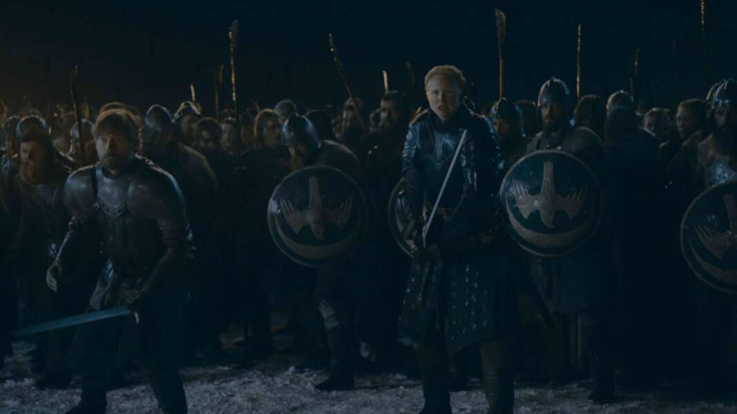 Jaime et Brienne sont les premiers à être prêts pour partir en guerre