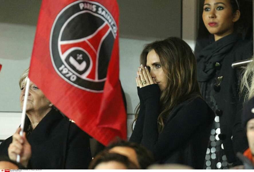 Grande supportrice de son mari David Beckham, Victoria assistait à tous ses matchs