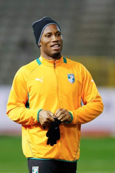 La star de l'équipe ivoirienne Didier Drogba, 36 ans
