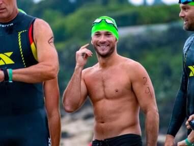 Scott Eastwood sort les pectoraux au Triathlon de Malibu