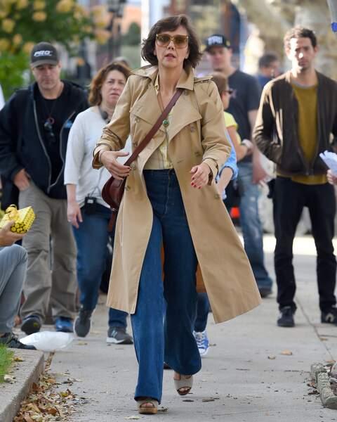 Maggie Gyllenhaal en tenue de ville (c'est plus soft).