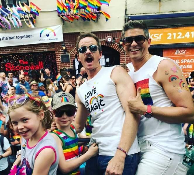 Et on aurait clairement voulu célébrer la Pride à New York avec Neil Patrick Harris et sa petite famille.
