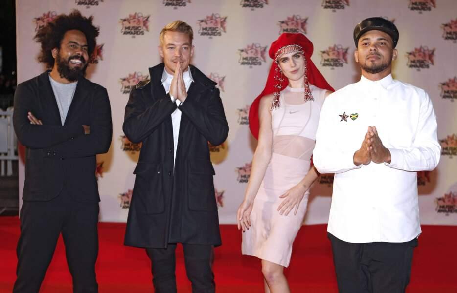 Major Lazer et MØ aux NRJ Music Awards 2015 à Cannes