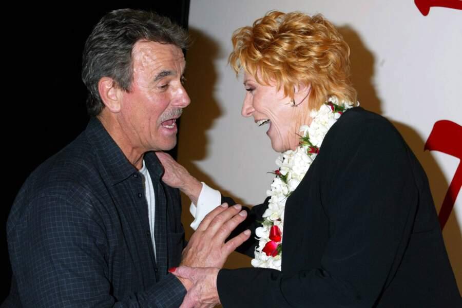 Dans la série, Katherine se méfiait de Victor, alors qu'Eric Braeden et Jeanne Cooper étaient très amis.
