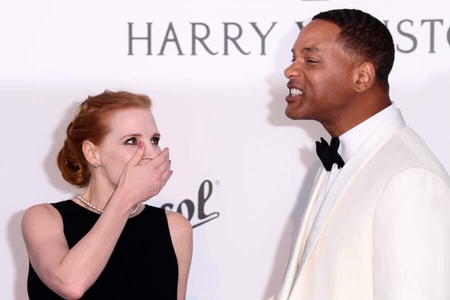 Jessica Chastain et Will Smith s'amusent comme deux gosses