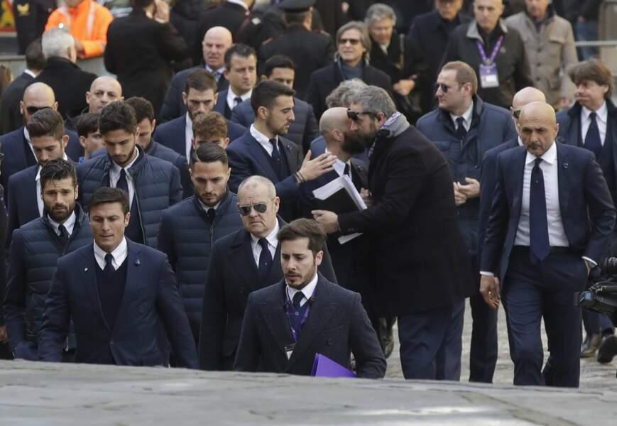 Les joueurs de l'Inter Milan étaient présents