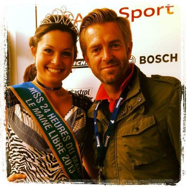 Alexandre Delpérier a rencontré Miss 24h du Mans. Trop-la-chance !
