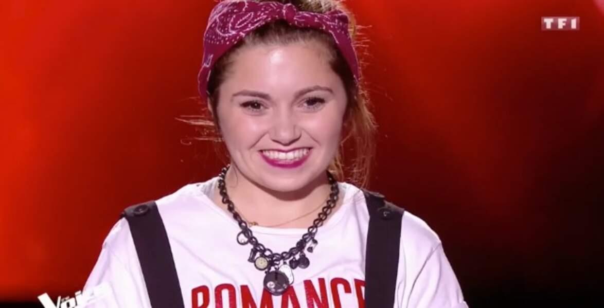 Rénata, 24 ans, est dans l'équipe de Florent Pagny