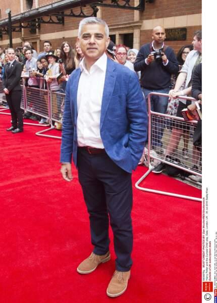 Le nouveau maire de Londres Sadiq Khan était aussi présent à cette première de Harry Potter et l'enfant maudit