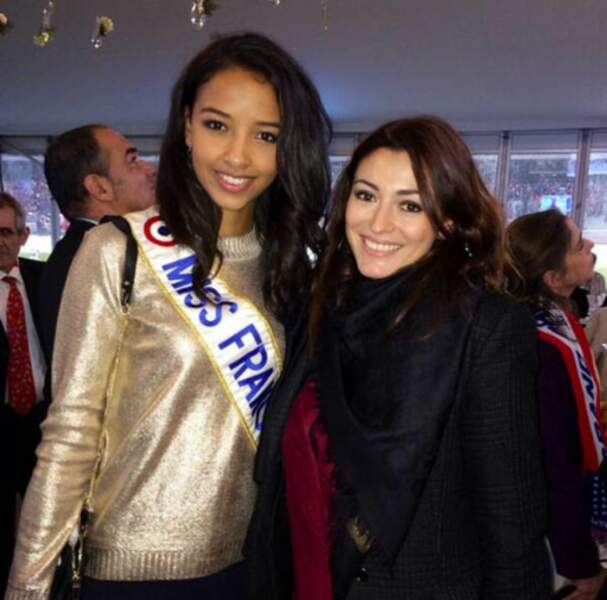 La miss France 2014, Flora Coquerel, a vu du beau monde cette semaine : d'abord Rachel Trapani-Capoue...