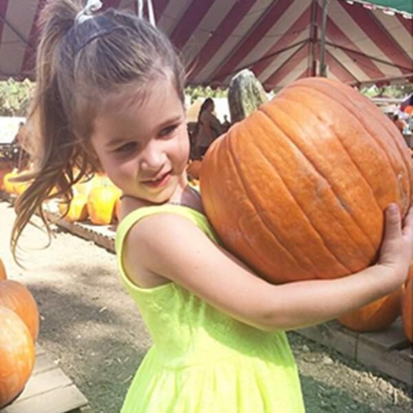 Un parfait Halloween : Regardez cette énorme citrouille trouvée par Harper