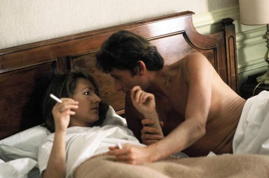 Amants à l'écran comme à la ville dans Détective (1985). Le couple se sépare un an plus tard.