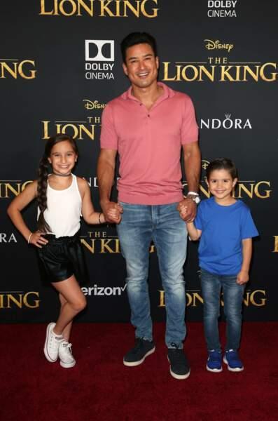 Mario Lopez et ses enfants