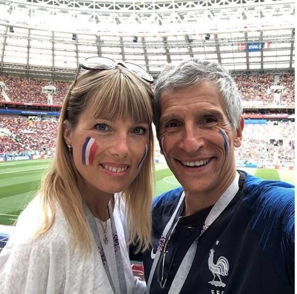 Tout comme Nagui et Mélanie Page qui assistent à tous les matchs de la France