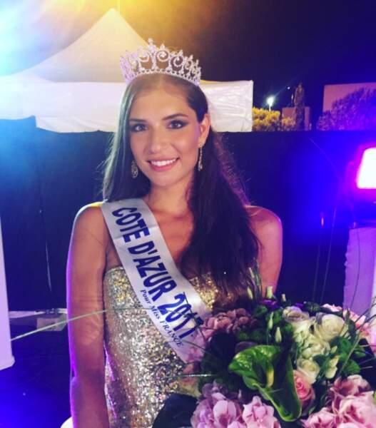 Julia Sidi Atman a été couronnée Miss Côte d'Azur, lundi 31 juillet 2017