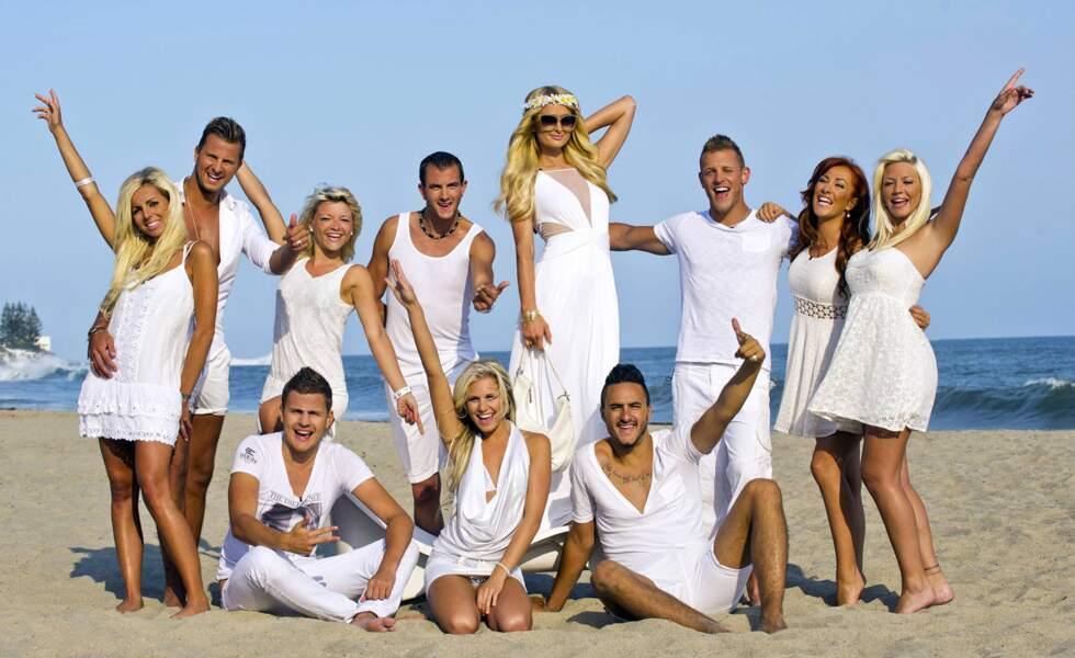 Photo de groupe avec la très distinguée Paris Hilton.