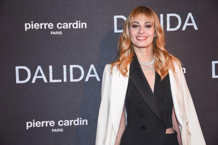 Et on finit bien évidemment en beauté avec la star qui incarne Dalida à l'écran : Sveva Alviti. Quelle actrice !
