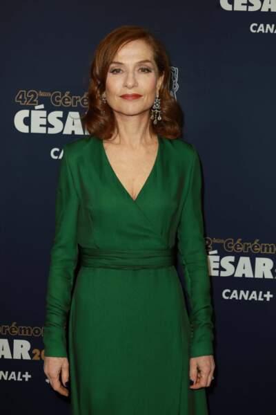 Isabelle Huppert concourt pour le César de la meilleure actrice