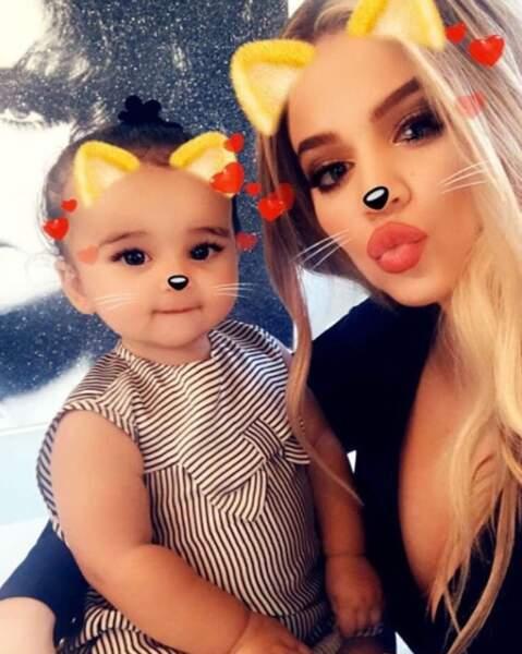 Dream Kardashian a fait mumuse sur Snapchat avec sa tante Khloé.