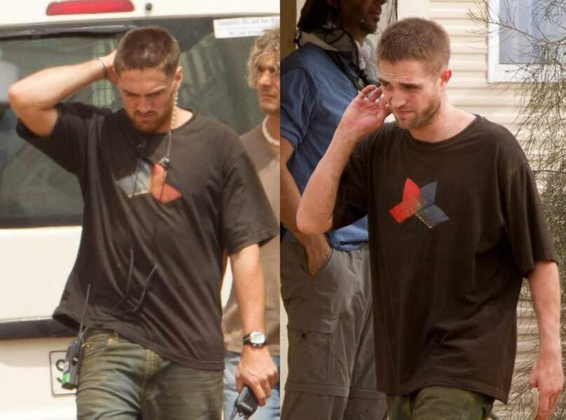 Robert Pattinson et sa doublure parfaite ! Même synchronisation des mouvements