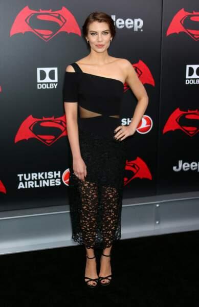Lauren Cohan (Maggie dans Walking Dead) joue la mère de Bruce Wayne dans ce film
